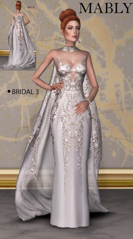 BRIDAL 3 WITH CAP at Mably Store image 12313 558x1000 Sims 4 Updates