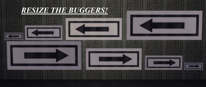 Sims 4 That Way Arrow Wall Sign by Duncan Disorderly at Mod The Sims