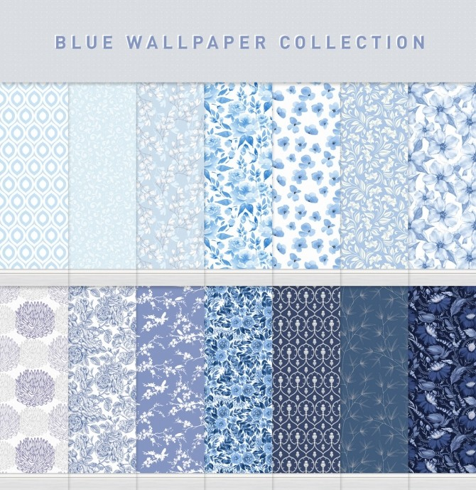 Blue Wallpaper Collection at SimPlistic image 1326 670x689 Sims 4 Updates