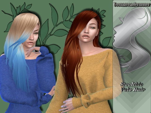 Sims 4 Valo Hair Recolor at Teenageeaglerunner