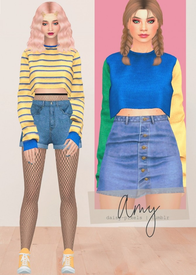 Sims 4 Amy Sweater at Daisy Pixels