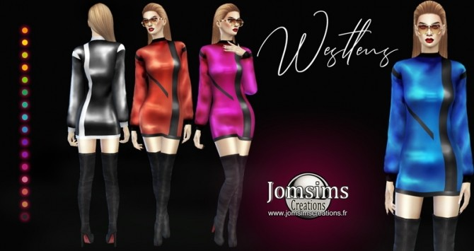 WESTLENS dress at Jomsims Creations image 1388 670x355 Sims 4 Updates