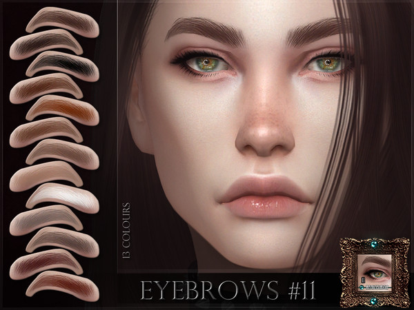 Sims 4 Eyebrows 11 by RemusSirion at TSR