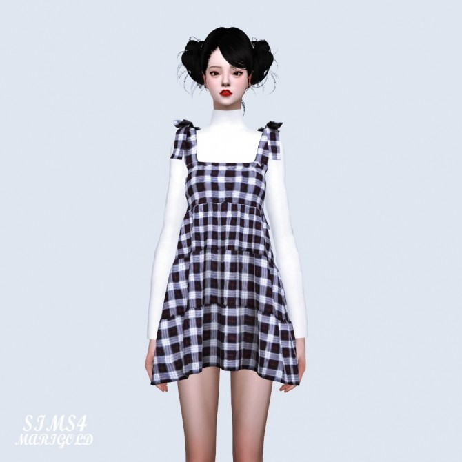 Ribbon Tiered Mini Dress With T (P) at Marigold image 1424 670x670 Sims 4 Updates