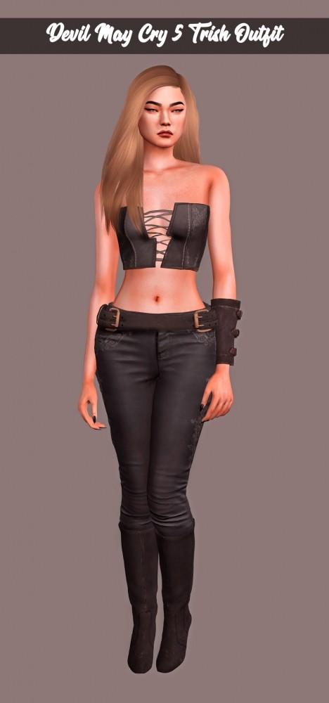 Sims 4 Devil May Cry 5 Trish Outfit at Astya96