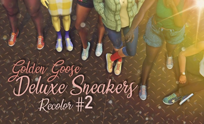 Sims 4 Starlord Golden Goose Sneakers Recolor Part 2 at Miss Ruby Bird