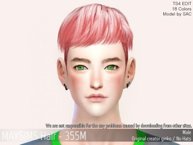 Hair 355M (Ginko) at May Sims image 1474 670x503 Sims 4 Updates