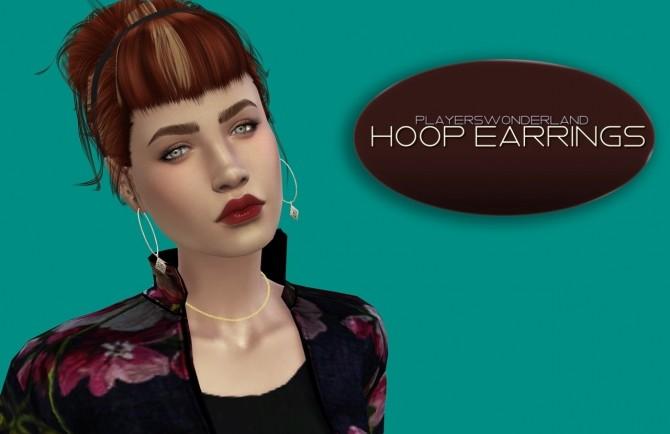 Sims 4 Hoop earrings at PW's Creations