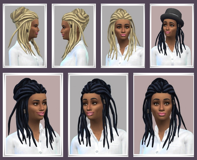Lady UpDo Dread Locks at Birksches Sims Blog image 15110 Sims 4 Updates