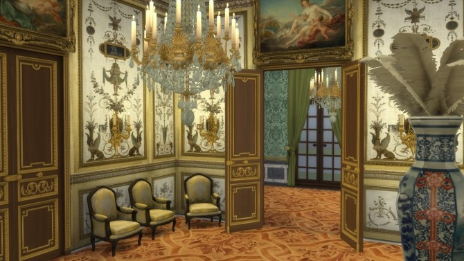 Fontainebleau Boiserie wall set at Regal Sims image 15211 670x377 Sims 4 Updates