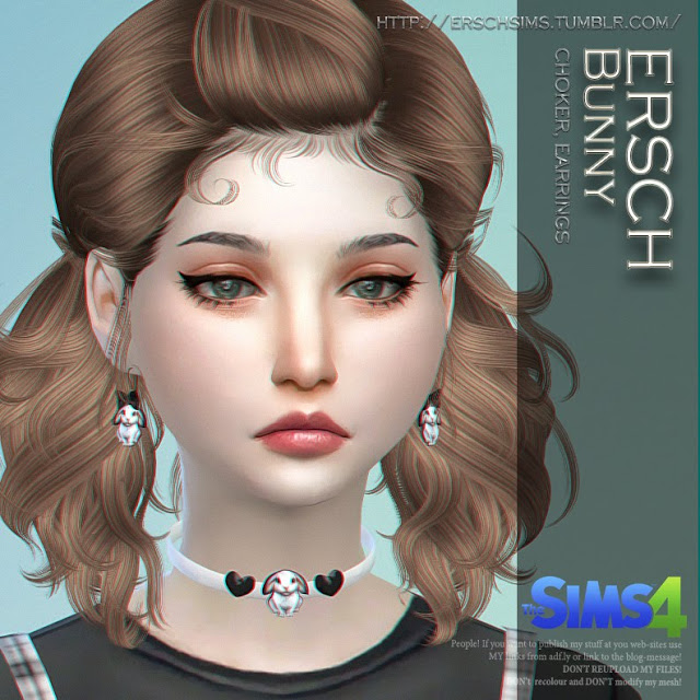Sims 4 Bunny Accessories at ErSch Sims