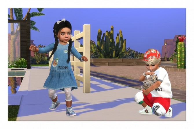 Sims 4 Designer Set for Toddler Girls and Boys at Sims4 Boutique