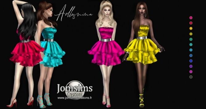 Sims 4 Adlesnina dress at Jomsims Creations