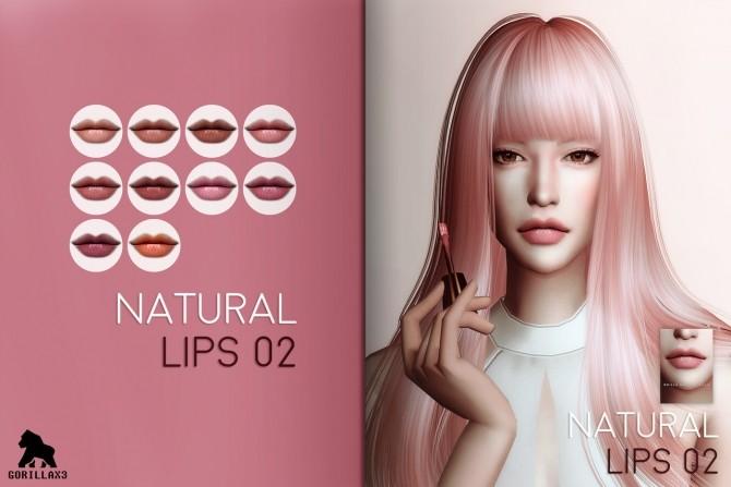 Sims 4 Natural Lip Set at Gorilla