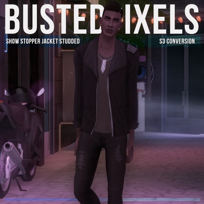 Show Stopper Jacket Studded S3 Conversion at Busted Pixels image 1594 670x670 Sims 4 Updates