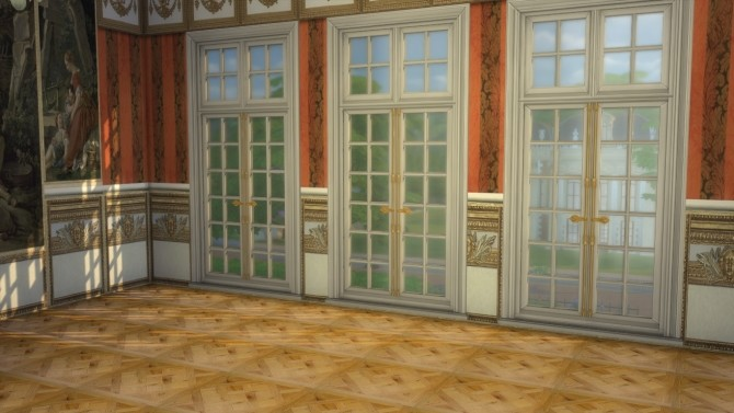 Sims 4 Fontainebleau Boiserie wall set at Regal Sims