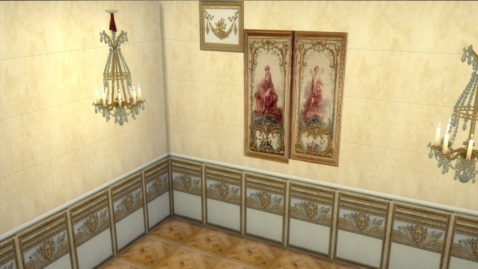 Fontainebleau Boiserie wall set at Regal Sims image 1606 670x377 Sims 4 Updates