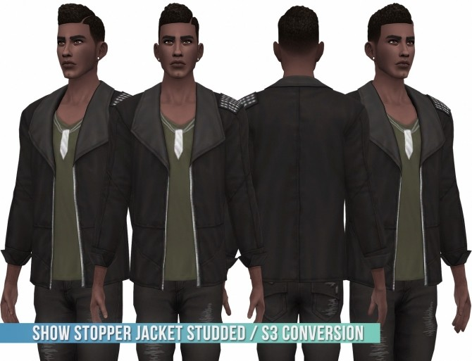 Show Stopper Jacket Studded S3 Conversion at Busted Pixels image 16110 670x513 Sims 4 Updates