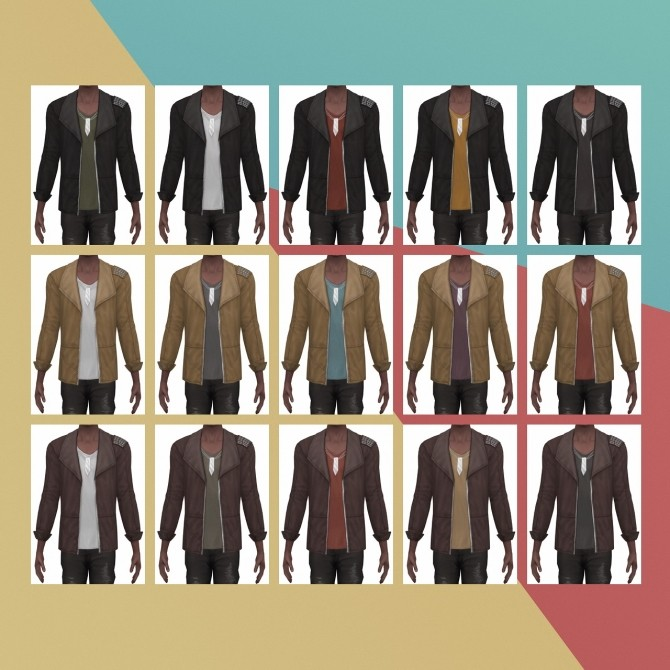 Show Stopper Jacket Studded S3 Conversion at Busted Pixels image 1625 670x670 Sims 4 Updates