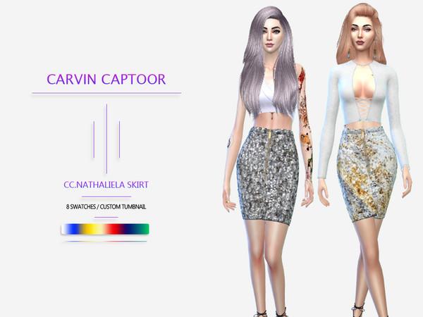 Sims 4 Nathaliela skirt by carvin captoor at TSR