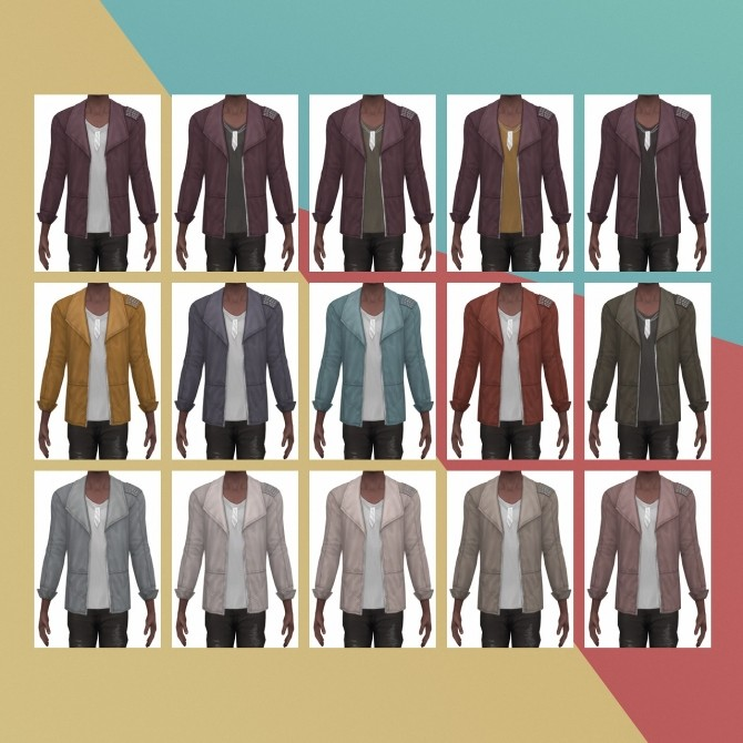 Show Stopper Jacket Studded S3 Conversion at Busted Pixels image 1634 670x670 Sims 4 Updates