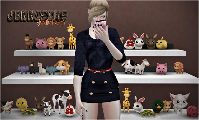 Sims 4 Decorative Jungle Party 17 Items at Jenni Sims