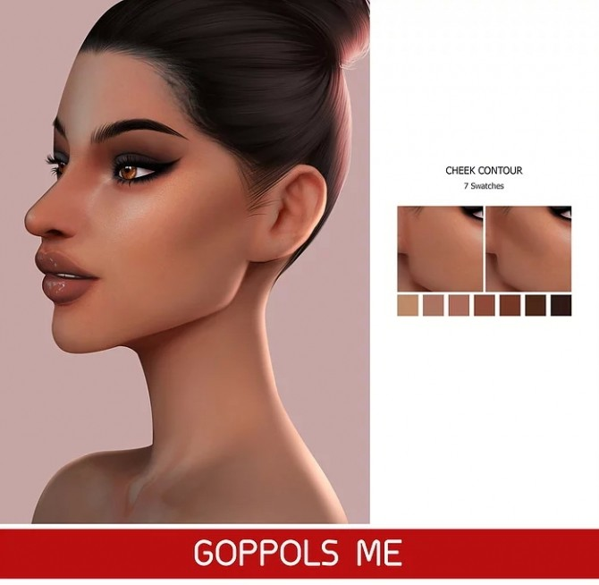 Sims 4 GPME Cheek Contour C3 at GOPPOLS Me