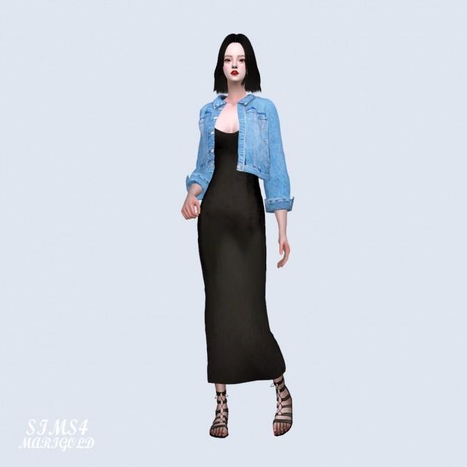 Sims 4 Denim Jacket With Long Dress (P) at Marigold