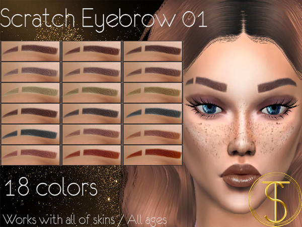 Sims 4 Scratch Eyebrow 01 by turksimmer at TSR