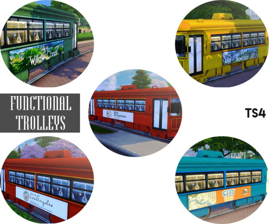 Sims 4 Functional Trolleys at Descargas Sims