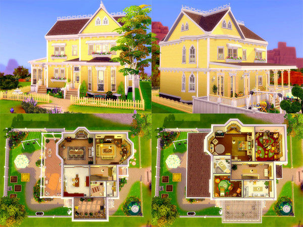 Sims 4 Lemon Cottage Nocc by sharon337 at TSR