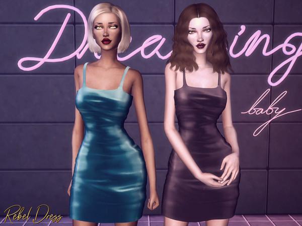 Sims 4 Rebel Dress by Genius666 at TSR