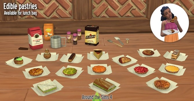 Sims 4 Edible pastries by Sandy at Around the Sims 4