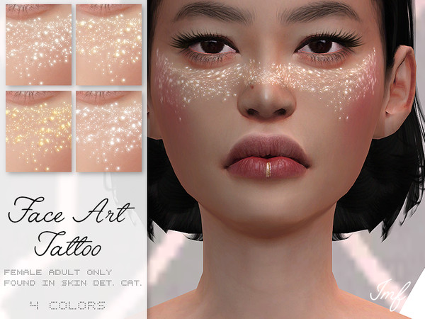 Sims 4 IMF Face Art Tattoo by IzzieMcFire at TSR