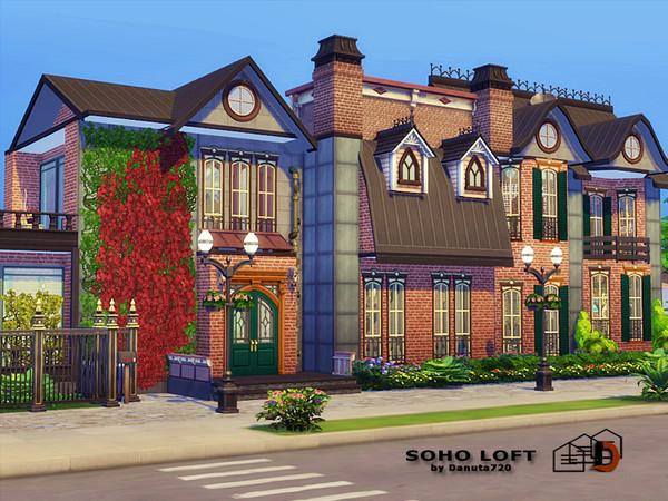 Sims 4 Soho Loft by Danuta720 at TSR