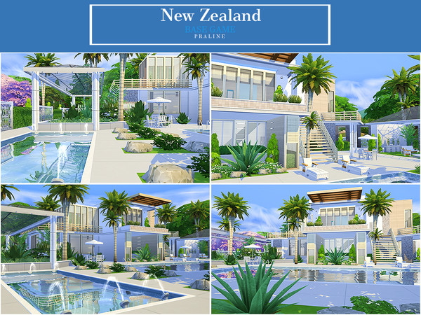 Sims 4 New Zealand house by Pralinesims at TSR