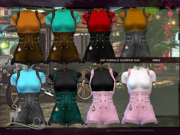 Sims 4 DSF OVERALLS SCORPIUS EIUS by DanSimsFantasy at TSR
