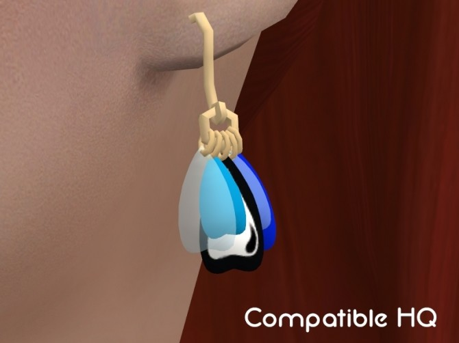 Butterfly wings earrings by Delise at Sims Artists image 198 670x502 Sims 4 Updates