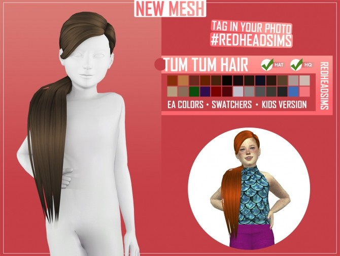 KIDS HAIR PACK by Thiago Mitchell at REDHEADSIMS image 1983 670x504 Sims 4 Updates