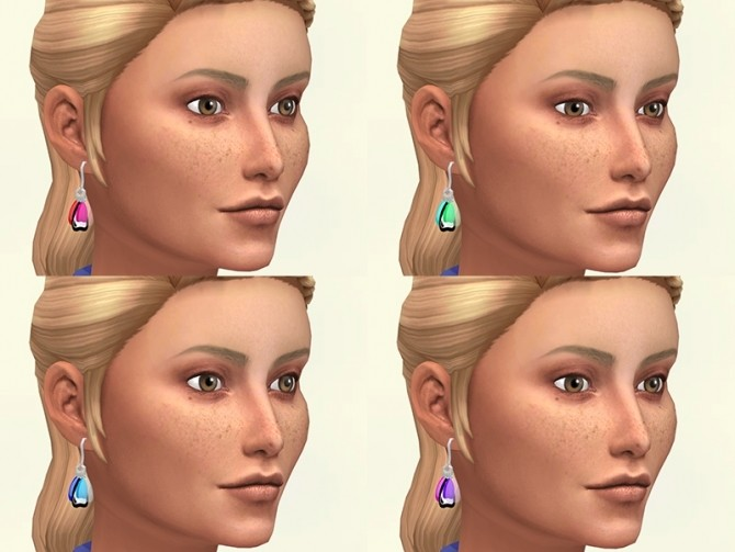 Sims 4 Butterfly wings earrings by Delise at Sims Artists