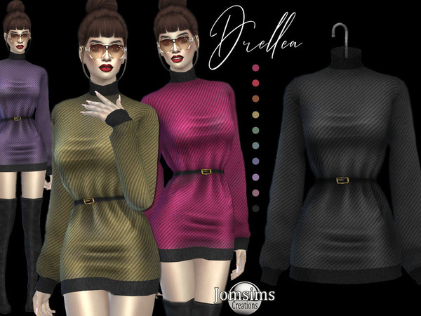 Sims 4 Drellea dress by jomsims at TSR