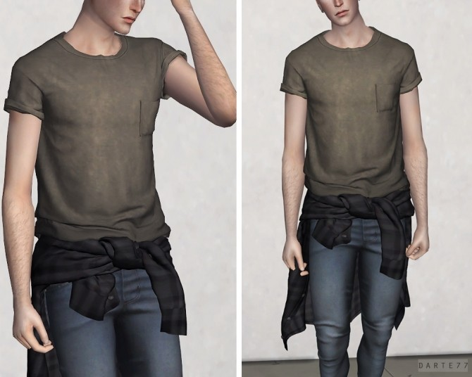 Sims 4 Shirt Tied Around Waist Top V2 at Darte77