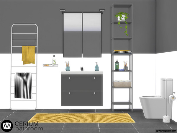 Sims 4 Cerium Bathroom Decorations by wondymoon at TSR
