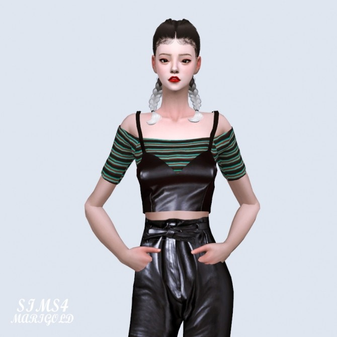 Sims 4 Off Shoulder Top With Bustier (P) at Marigold