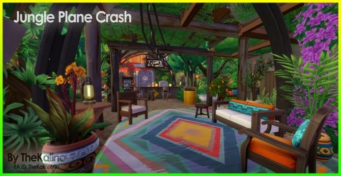 Sims 4 Jungle Plane Crash at Kalino