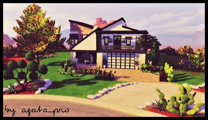 Sims 4 Strangeville family house at Agathea k