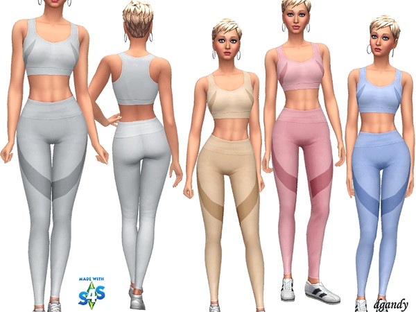 Sims 4 Athletic outfit 201902 12 by dgandy at TSR