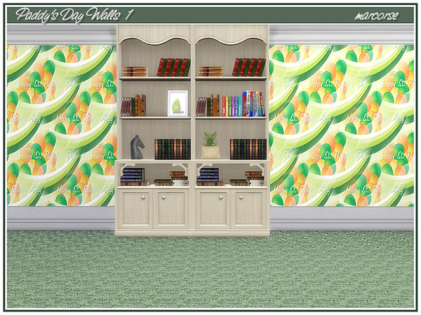 Paddys Day Walls by marcorse at TSR image 2104 Sims 4 Updates