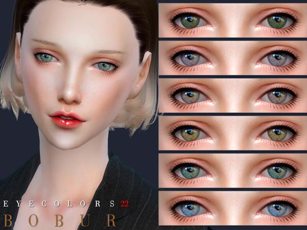 Sims 4 Eyecolors 22 by Bobur3 at TSR