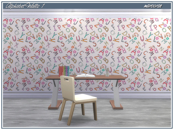 Alphabet Walls by marcorse at TSR image 2139 Sims 4 Updates